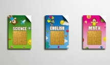 Turning old SIM cards into textbooks for poor students.